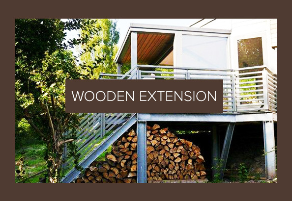 Private customer Wooden Extension